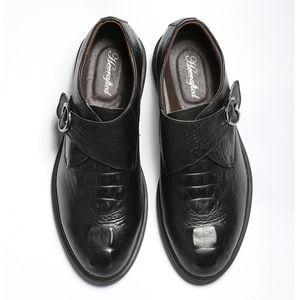 Taille 36 ~ 49 en cuir pleine fleur Chaussures Hommes Robe Mode confortables Hecrafted Hommes Chaussures