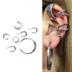 6Set Vintage Hand Fälschungs-Ohr-Piercing Helix Piercing Cartilage gefälschte Nasen-Ring-Hand Tragus Pircing Körperschmuck