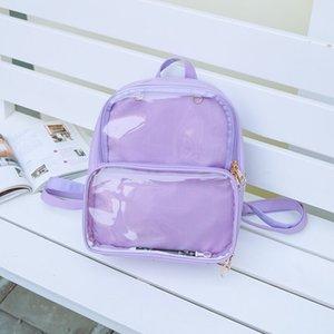 hot sale Shoulder bag female 2020 new Korean fashion backpack personality Joker transparent simple jelly bag