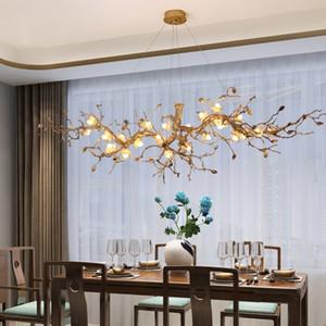 Nuova illuminazione di grandi dimensioni Kapok fiori Filiali Artistiche Lampadari glassa colorata pendente della luce di lampade di illuminazione Hotel Copper Chandelier MYY