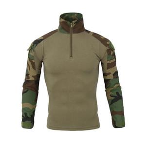 Охладить NEW Камуфляж армии T-Shirt Men США RU Солдаты Combat Tactical тенниска Military Force Camo с длинным рукавом футболки Размер S-XXL