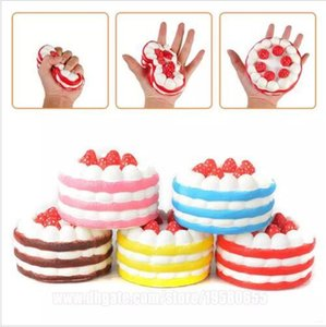 12CM Cake Strawberry Squishy Charm Toy Scented Cream PU Simulation Cake Slow Rising Squishies Jumbo Stress Reliever Toys for kids gift