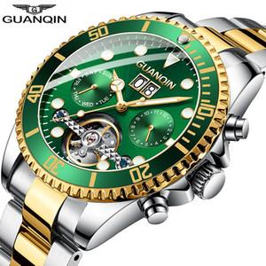 2019 orologio GUANQIN Orologio automatico immersioni orologio nuoto meccanico Tourbillon impermeabile stile degli uomini di lusso relogio masculino