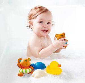 De bebé Qualidade Bath Água Duck Toy Sounds Mini borracha amarela Ducks Crianças Bath pequeno Duck presentes Toy Crianças Swiming Praia