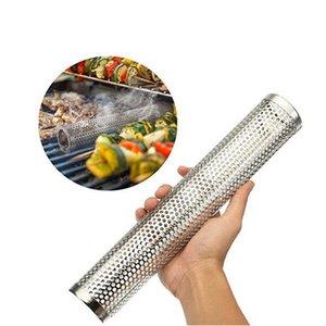 Útil para churrasco de aço inoxidável Acessórios Malhas perfurado malha Smoker Tubo Churrasqueira Gerador Smoker Filtro Ferramenta
