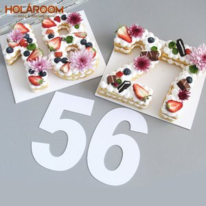 Holaroom Kuchen, der Werkzeuge PET 0-8 Anzahl Kuchenform Confeitaria Maker Geburtstagskuchen Design-Gebäck-Werkzeug