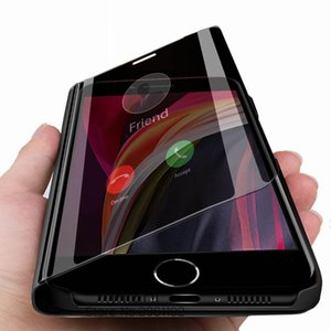Smart Mirror Leather Case For Honor V30 Pro Luxury Clear Phone Case For Honor 30 30Pro Plus