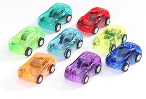 자동차 자동차 완구 선물을 당겨 어린이 투명한 미니 자동차 완구 파티 애호가들에게 다이 캐스트 모델 자동차