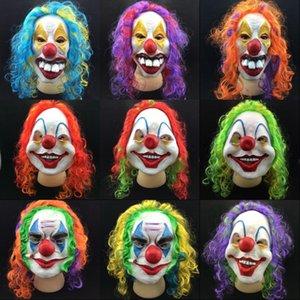 Halloween Party Effrayant Masque Latex Clown Masque clown Wry visage masques effrayants Halloween Horror Plein visage effrayant Masques de mascarade