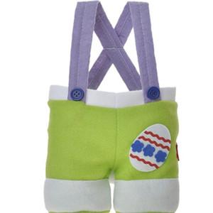 Pâques Sac cadeau de lapin Queue-Pants comme Pâques Candy Bag Pâques Pantalon de type non-tissé Sac Trois Couleurs EEA1056