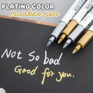حلو ملون لامع الدائم الطلاء علامات أقلام معدنية أقلام ماركر 10ML المعادن سلامة علامة الطلاء القلم والبيئية