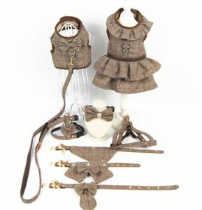 Collier de chien réglable vêtements pour animaux de chiot Harnais Collier Laisse mignon animal chiot chat Veste Vêtements Harnais T200101 Leash