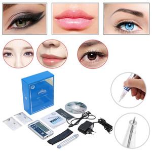 Tattoo Machine Profission Permanent Tattoo Machine Kit Digital Lip Eyebrow Pen Gun Permanent Makeup With Cartridge Needle