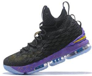 Todos los zapatos 15s igualdad de baloncesto para hombres LBJ James bhm Oreo nueva lebron-15 zapatillas de deporte de igualdad szie 7-12