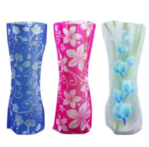 Eco friendly Foldable Folding Flower PVC Durable Vase Home Wedding Party Easy to Store 27 x 12cm