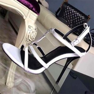 home shoes 2020 style Patent Leather Thrill Heels Women Unique Letters Sandals Dress Wedding Shoes Sexy shoes 35-41