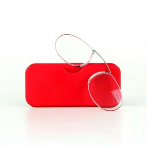 Legless clip nose reading glasses portable men's and women's universa reading glasses mini wallet glasses
