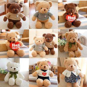 Высокое качество 30 см плюшевый мишка с шарфом мягкие животные медведь плюшевые игрушки плюшевый мишка кукла любителей ребенка подарок на День Рождения