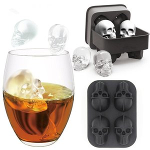 3D Silicone Mold Skull head mould Mold Halloween Skull Shaped Whisky Wine Ice Cube Tray Maker Chocolate Mould Bar Party Supplies DIY tool
