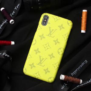 Colorful Designer Phone Moda Luxo Capa para iphone 11 pro Max X XR Xs max 7 8plus Moda Shell duro couro gravado Phone Case A16