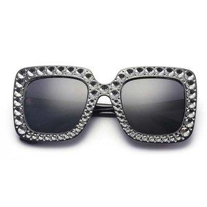 Gafas de sol artificial plaza del diamante de las mujeres de los hombres de la playa de vacaciones lentes de los vidrios Eyewear Gafas Anteojos al aire libre Senderismo