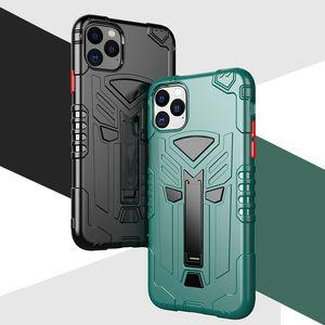 Neue Luxus-Militär unverwüstliche Rüstungs TPU Telefon-Kasten Stoß- Standplatz-Halter der rückseitigen Abdeckung für iPhone 11 Pro xs Max