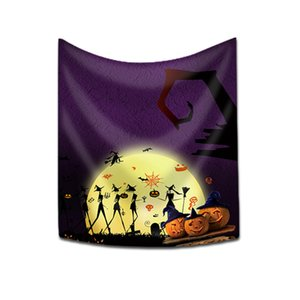 New Pattern Polyester Halloween Shower Curtain Castle Pumpkin Series Bath Curtains Household Bathroom Accessories In Stock