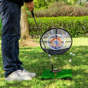 2020 new style Golf Chipping Practice Net Golf -UP Indoor Outdoor Chipping Pitching Cages Mats Practice Easy Net Golf Training Aids