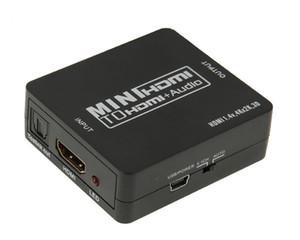 HDMI para HDMI Suppport SPDIF óptico 5.1 + RCA L / R Audio Video Extractor Converter Splitter Adaptador com cabo USB
