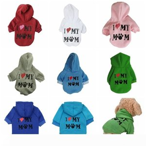 Pet Puppy Sweater i love my mom dog hoodie Printed Hooded Sweatshirt for Small Dog Pet