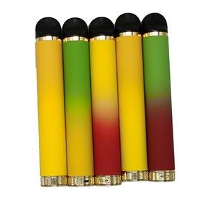 1000 bouffées jetable à usage unique 4 ml gousses Vape Pen Dispositif Pod cartouches Kits E-cigarettes vide Batterie Vaporisateur 600mAh Emballage 5% Faible