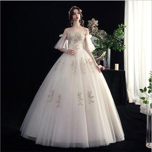 Вестерн свадебное платье 2020 новая невеста бюстгальтер одежда лесной серии Супер фея мечта простой французский свет роскошные женские длинные платья