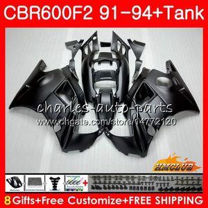 Honda CBR 600F2 CBR600FS CBR 600 FS F2 91 92 93 94 40HC.5 600cc CBR600 F2 CBR600F2 1991 1992 1993 1994 Fairing mat siyah için Gövde + tank