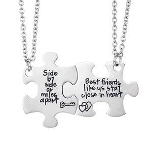 Best Friends Side By Side or Miles Apart Best Friend Necklaces Set Heart Best Friend Gifts for Teen Girls BFF Friendship Necklac