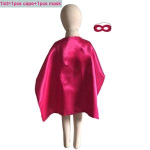 27 дюймов двухсторонний супергерой накидка маска набор детей детский хеллоуин костюм девушки любимые подарки для вечеринки