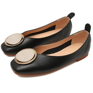 Casual Slip On Women Loafers Flats Ballet Shoes Leather Shoes Square Toe Office Lady Shallow Single Shoe Footwear Zapatos Mujer