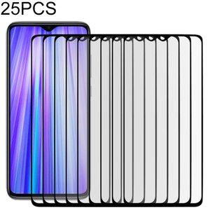 25 PCS Full Cover ScreenProtector Tempered Glass Film for Xiaomi Redmi Note 8 Pro