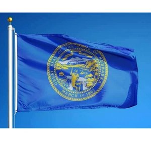 Bandeira do estado de Nebraska EUA 3x5 ft Nebraska Bandeira de poliéster impresso de alta qualidade New Quaisquer Bandeiras Banners personalizados estado estilo americano