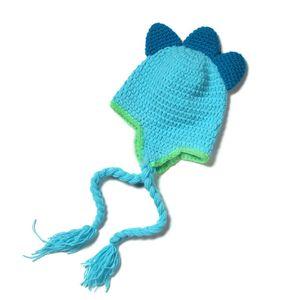 Sevimli Bebek Canavar Şapka, El Yapımı Tığ Erkek Bebek Kız Hayvan Şapka, Çocuklar Kış Kulaklığı Kış Kap, Bebek Yenidoğan Fotoğraf Prop