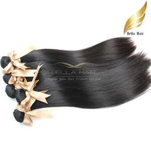 "Virgin Human Hair Silky Straight Remy Brazilian Human Hair Bundles 9A 10""-34"" Natural Color Bellahair In Bulk"