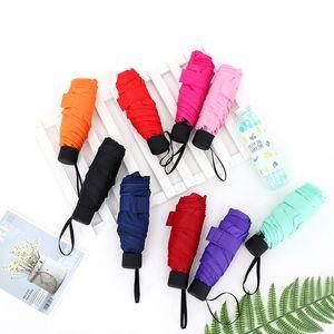 Ultra light mini guarda-sol cor lisa bolso cinco vezes guarda-chuvas cores puras sombrinha protetor solar nova chegada 18 mh l11