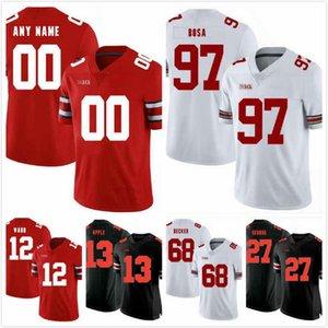 Özel Ohio State Buckeyes Jashon Cornell Forması 9 Isaiah Pryor 14 C.J. Saunders 80 Rashod Berry 13 Chris Olave 17 Binjimen Victor 9 S-3XL