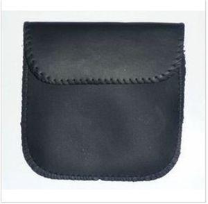 Kopfhörer-Kopfhörer USB-Kabel Speicher-Beutel PU-Leder-quadratische schwarze Farbe Geldbörse Mini-Portemonnaie Wasserdicht 0 95ly E19