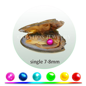 Wholesale Freshwater oysters has single cultured pearls 7-8mm 4A mix 28 beautiful colors shipping via DHL fishing license needed
