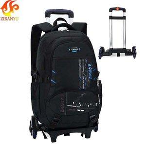 Ziranyu Estudiante de gran capacidad Mochila de hombro Equipaje con ruedas Maletas Trolley Rueda Cabina Viaje Duffle School Bag J190522
