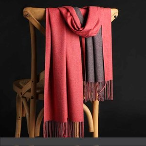 2019 New Autumn Winter Double Color Cashmere Designer Scarf Deluxe Gift Shawl Warm Brush 200cm*70cm