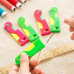 Enhebrador de costura dedal Hilo herramienta de Threader mayores guía fácil de dispositivos automáticos Suministros hilo de coser Simog