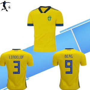 S-4XL 201920 sweden European Cup football jerseys 19 20 home yellow away JOHNSSON GUIDETTI FORSBERG BERG LARSSON custom Swedish foot