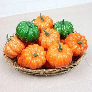 Simulation Kürbis-Halloween-Kürbis Künstliche gefälschter Gemüseminikürbis Halloween Thanksgiving-Lebensmittelgeschäft Supermarkt Obst Dekor