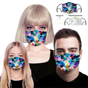 Cross-border amazon sells 3D printed face masks with PM2.5 cotton cloth for men and women to prevent dust